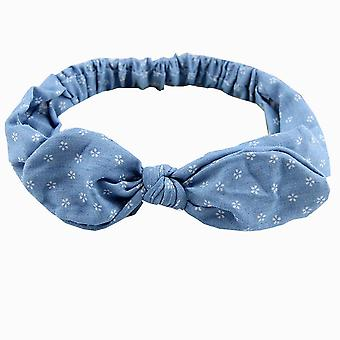3PCS Bow Headband Summer Women Cute Rabbit Ears Headband Star Striped Bowknot Hair Bands Elastic