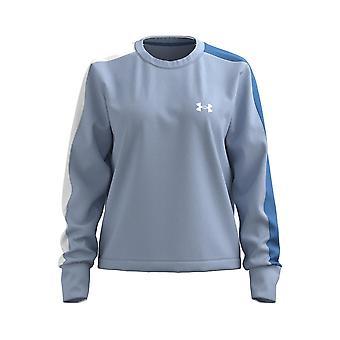 Under Armour Femmes Rival Terry Colourblock Crew Sweatshirt Jumper Pullover Top