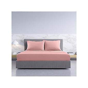 Royal Comfort Bamboo Cotton Sheets Pillowcases Set Double Blush