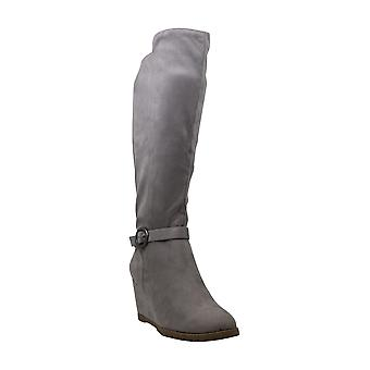 Journee Collection Womens Veronica Fabric Closed Toe Knee High Fashion Boots