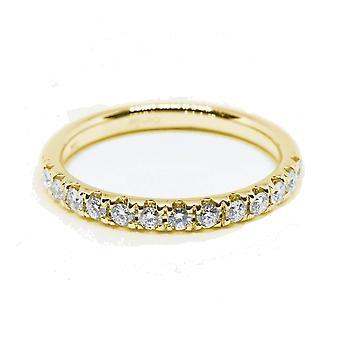 HS Johnson HSJ-CSM265A Women's Diamond Set Half Eternity 18ct Gold Ring