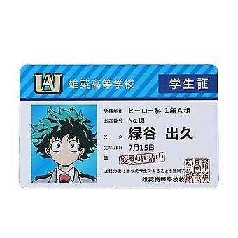 Anime Peripheral My Hero Academia Pvc Student Id Card School Food Cards