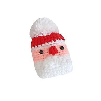 Qian Airpods Case Cover Cartoon Knitted Santa Claus Protective Soft Shell Suitable For Apple Airpods 1/2 Earphone Sleeve