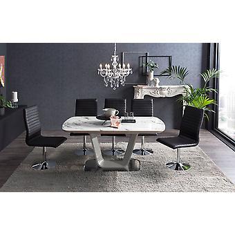 Tomasso's Acerra Dining Table - Modern - White - Mdf - 160 cm x 90 cm x 76 cm