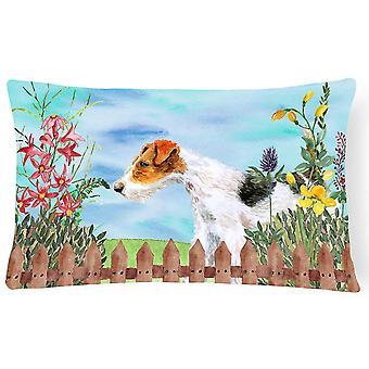 Pillows fox terrier spring canvas fabric decorative pillow