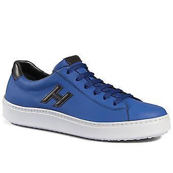 H302 Hogan Herrenschuhe Sneaker in blau Leder