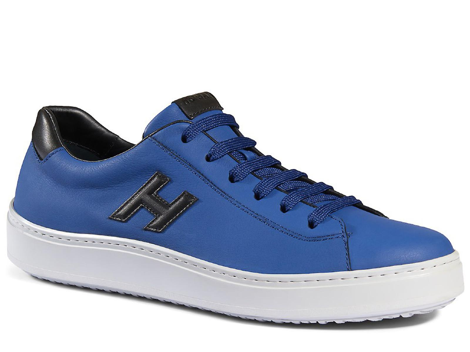 H302 Hogan Herrenschuhe Sneaker in blau Leder  0cbdbffc628
