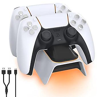 Dobe Upgraded Ps5 Controller Charger, Playstation 5 Charging Station With Led Indicator, High Speed, Fast Charging Dock For Sony Dualsense Controller,