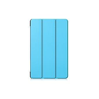Egnet For Samsung Tab A 10.1 2019 T510/515 Full Body Flip Tredelt Flat Beskyttende Cover Blå