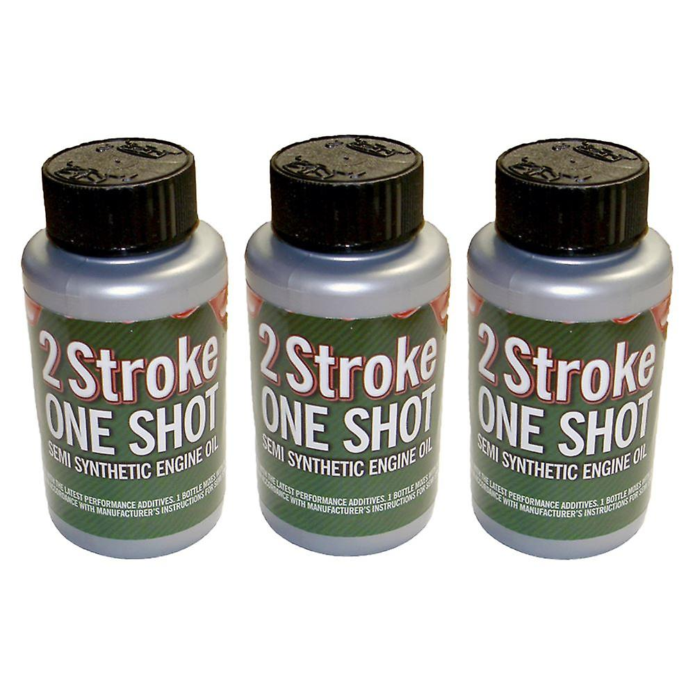 3 x Two (2) Stroke Oil One Shot 50:1 Mix For Petrol Chainsaw, Cut Off Saw, Brushcutter