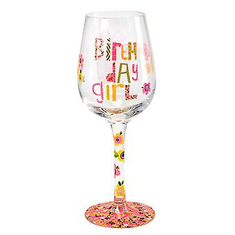 Here's To You Birthday Girl Wine Glass