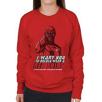 Red Shirt Zombie Star Trek Women's Sweatshirt