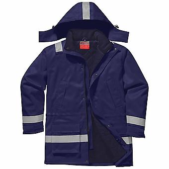 Portwest - Fire Resist Hi-Vis Safety Workwear Anti-Static Winter Jacket