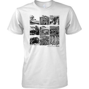 Falklands War fotokollage-mens T shirt
