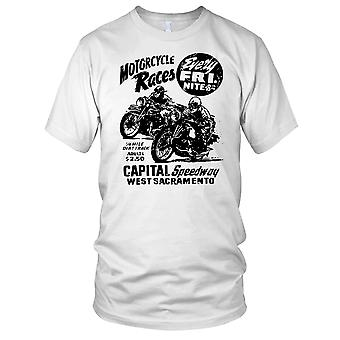 Moto corse ogni venerdì classico Biker Ladies T Shirt
