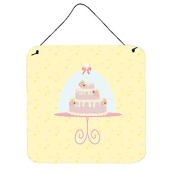 3 Tier Cake on Yellow Wall or Door Hanging Prints