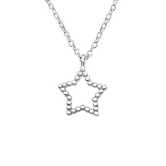 Star - 925 Sterling Silver Plain Necklaces - W19302X