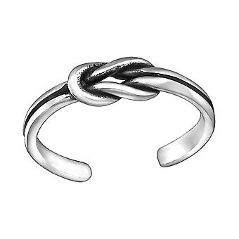 Knot - 925 Sterling Silver Toe Rings - W29394X