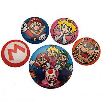 Super Mario Button Badge Set