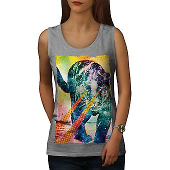 Abstrakte Tier Tier Frauen GreyTank Top | Wellcoda