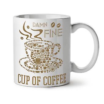 Coffee Cup Hot Fine Food NEW White Tea Coffee Ceramic Mug 11 oz | Wellcoda