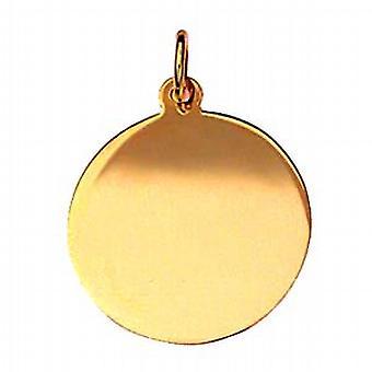 18ct Gold-19mm runde Klar Disc