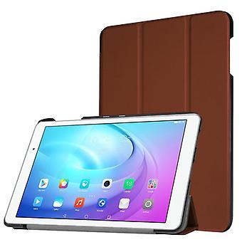 Slimme cover tas bruin voor Huawei MediaPad T2 10.0 Pro