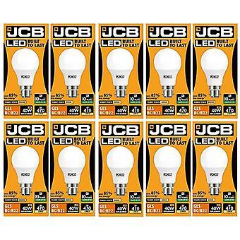 10 x 6w JCB = 40w LED GLS opale BC/B22 3000 k chaud 6w blanc 40W [classe énergétique A +]