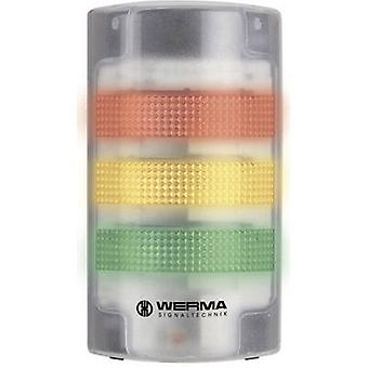 Werma Signaltechnik Combo sounder LED 691.200.55 White Non-stop light signal, Flasher 24 V DC 85 dB