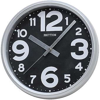 Rhythm 7890/7 clock wall clock quartz grey creeping second