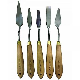 Jakar Stainless Steel Wooden Handle Palette Knives Set