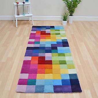 Funk Hallway Runners - Multi Coloured Pure Wool
