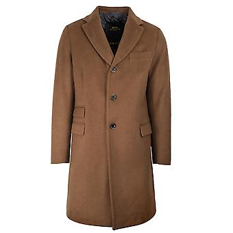 CC Collection Corneliani Camel Beige Wool-Blend Coat