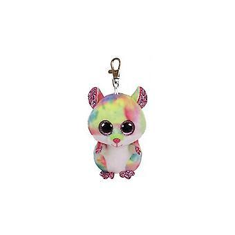 Ty Beanie Babies 36558 huées Rodney le Hamster rose Boo Clip clé