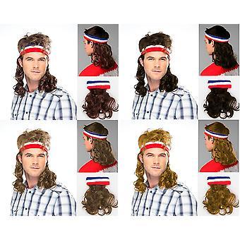 Multe hår hoved band hovedbøjle paryk Hillbilly hoved bandet