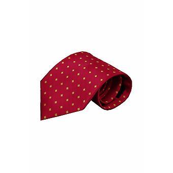 Rode zijden stropdas Cremona 01