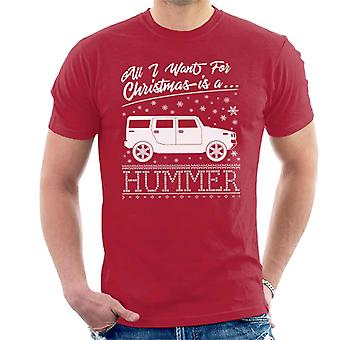 All I Want For Christmas Is een Hummer mannen T-Shirt
