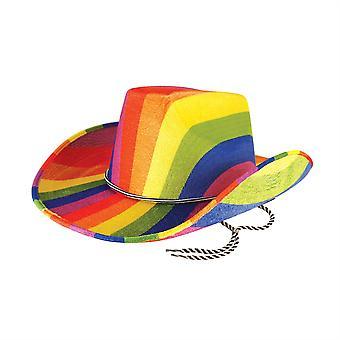 قبعة رعاة البقر قوس قزح
