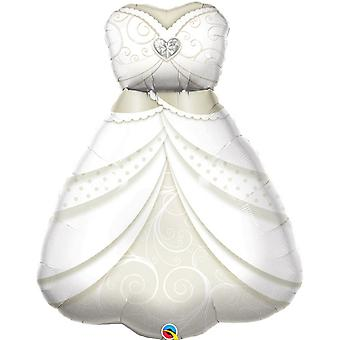 Qualatex Wedding Dress Supershape Foil Balloon 3ft