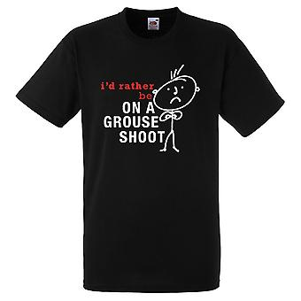 Mens I'd Rather Be On A Grouse Shoot Black Tshirt