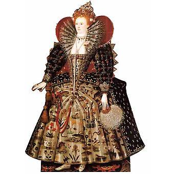 Rainha Elizabeth I - recorte de papelão Lifesize / cartaz