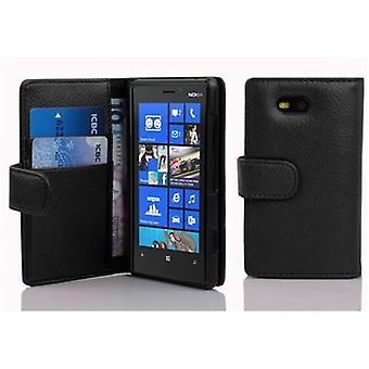 حالة Cadorabo لنوكيا Lumia 820 حالة تغطية - حالة الهاتف في جلد فو محكم مع وظيفة موقف وحجرة بطاقة - حالة حالة حالة غلاف القضية واقية نمط طي