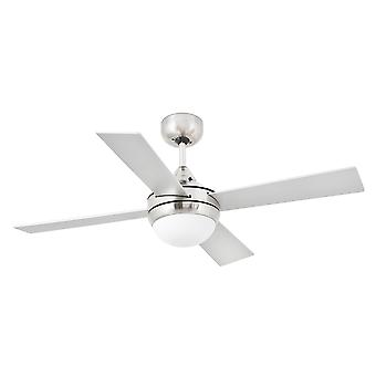 Faro - Mini Icaria Small Matt Nickel Ceiling Fan With Light FARO33699