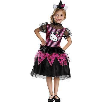 Hello Kitty Kind Hexenkostüm