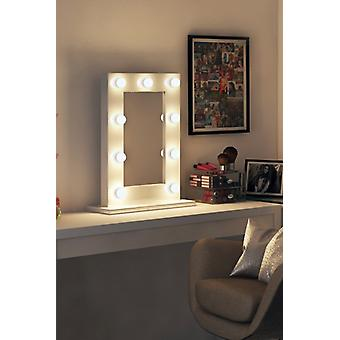 Diamond X Gloss White Hollywood Audio Mirror with LED k217CWaud
