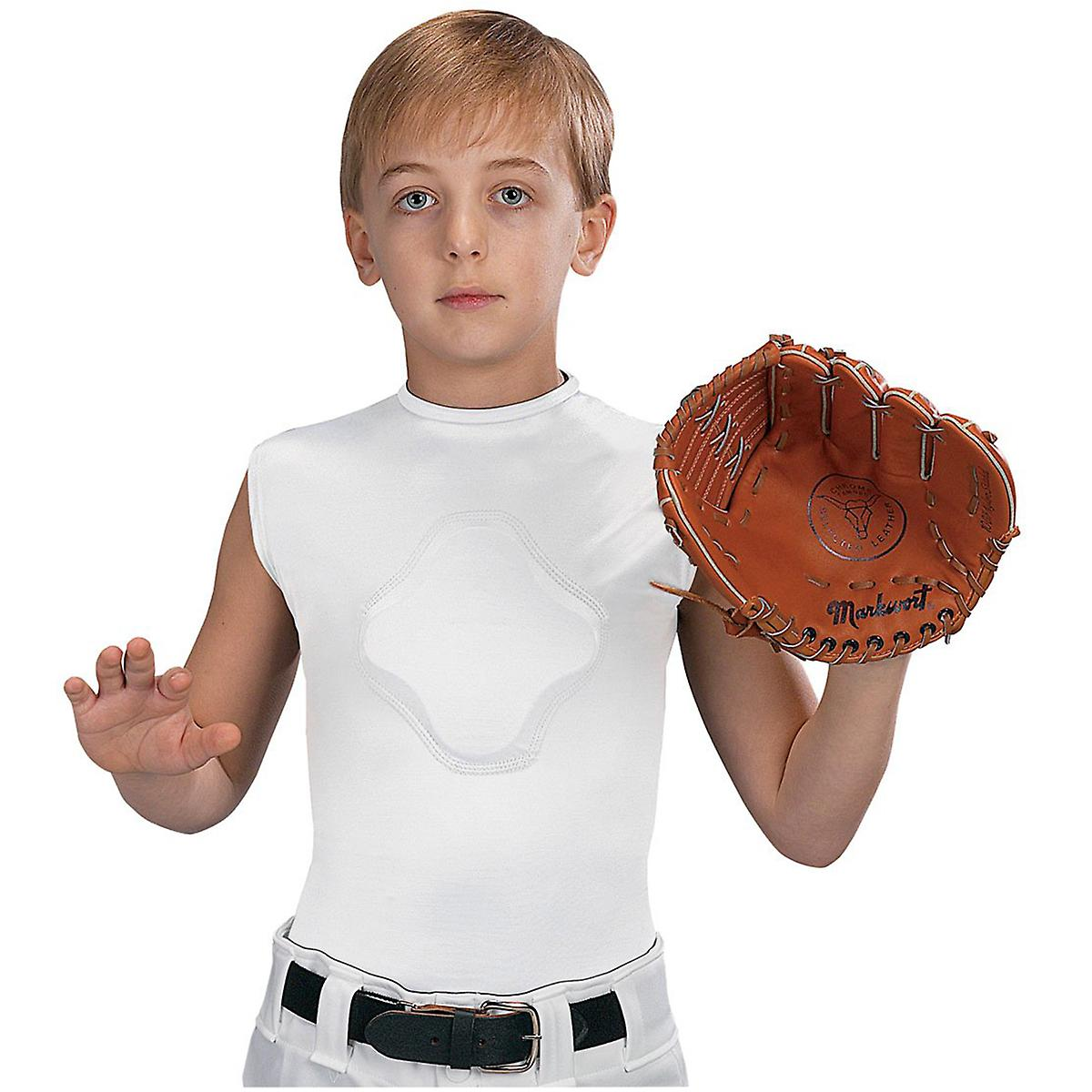 Markwort Youth Heart-Gard Protective Compression Body Shirt - White
