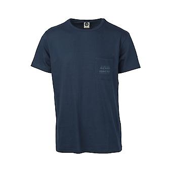 Rip Curl T-Shirt With Pocket ~ Organic d blue