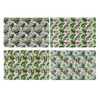 Tropical 4er-Tischset  bedruckt, 4er-Set, 100% Polypropylen, 4 versch. Motive.