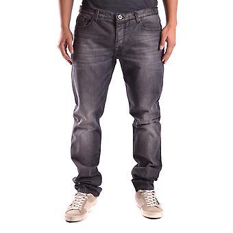 Bikkembergs Ezbc101028 Men's Black Cotton Jeans