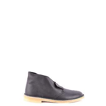 Clarks Ezbc095029 Mannen's Black Leather Ankle Boots